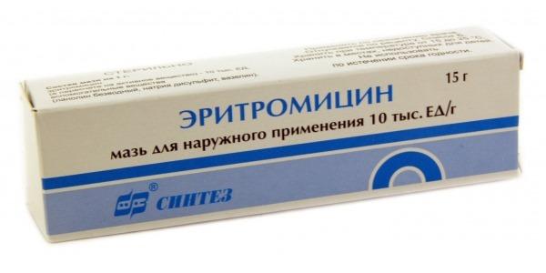 Эритромецин на член