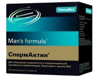 Препараты для лечения тератозооспермии